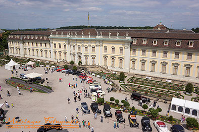 Luftbildaufnahme Retro Classic meets Barock Ludwigsburg