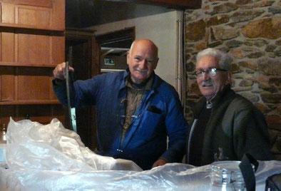 Georges et Jackie pendant les travaux de l'auberge-Mai 2013