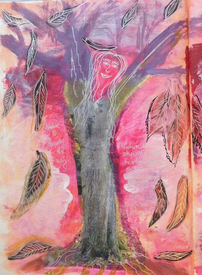 Malen stärkt die Verbindung zu uns selbst. Malen mit Christine Lukas