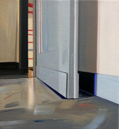 o.T, 2020, Öl auf Leinwand, 20x 18 cm