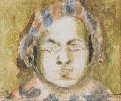 o.T. (Cha) 1988 (43) Temperafarbe 25 x 30 cm
