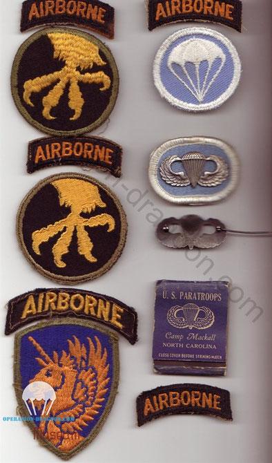 Gary DAVIS patches and memorabilia.