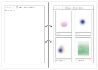 絵画技法のワークシートの例の画像