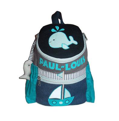 Kinderrucksack im maritimen Style