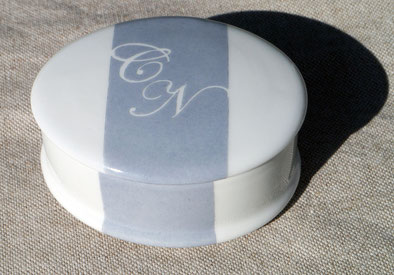 Boîte en porcelaine personnalisée