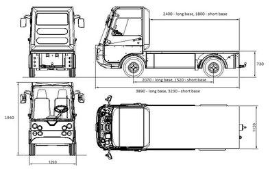 Elektrofahrzeug Pick-up esagono Transportfahrzeug