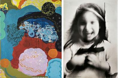 Werk von Viviana Guasch (links) und Katia Muñoz
