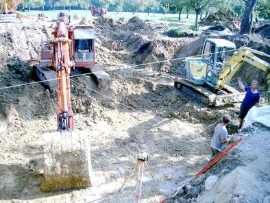 Aushub von Baugruben