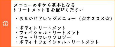 ☆ Twinkle Heart ☆ ベースとなるトリートメントメニュー