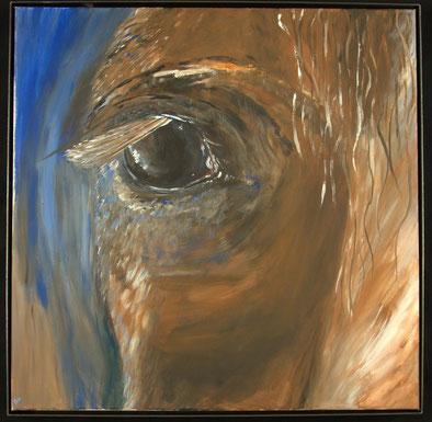 Ölbild einrahmen - Der schlichte Rahmen ergänzt das Bild
