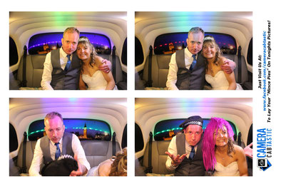 Taxi Photo Booth Wedding Pictures