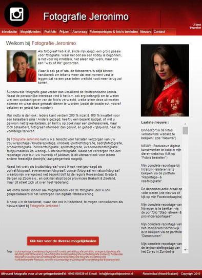 Mijn oude vertrouwde website heeft zijn werk perfect gedaan, maar het was hoog tijd voor een modernere versie :-)!