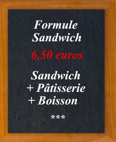 Au Croissant d'Or - Formule sandwiche