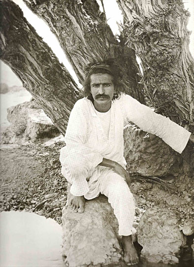 1923 - Quetta, Br.India. This is how Meher Baba looked when Louis first met him.