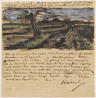 Una delle lettere di Van Gogh al fratello Theo