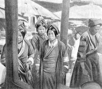 Femmes thaïes. Population autochtone du Yunnan