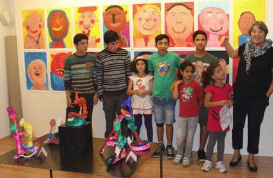 Flüchtlingskinder entdecken ihre Kreativität