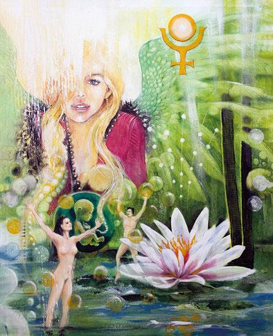 Die Offenbarung / Sakis Tarot, gemalt von Jopie Bopp Tarotkarte Die Sonne
