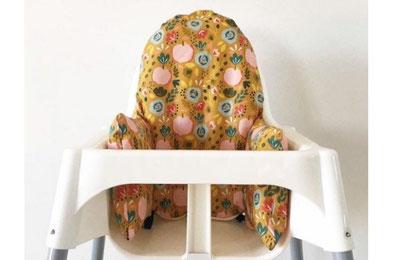 cette image représente 1 coussin de chaise haute haute compatible avec la chaise haute Antilop de chez Ikea