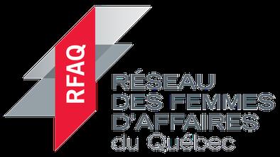 Logo RFAQ 2020 Réseau des Femmes d'Affaires du Québec dans un article de blogue de l'Académie des Autonomes