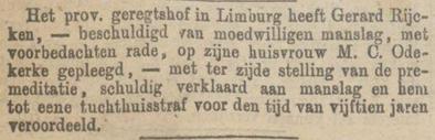 Provinciale Noordbrabantsche en 's Hertogenbossche courant  02-04-1874