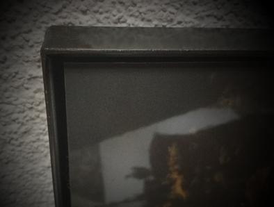 Fotorahmen; Winkelprofil aus Eisen