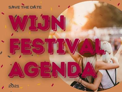 Wijnfestival agenda 2021