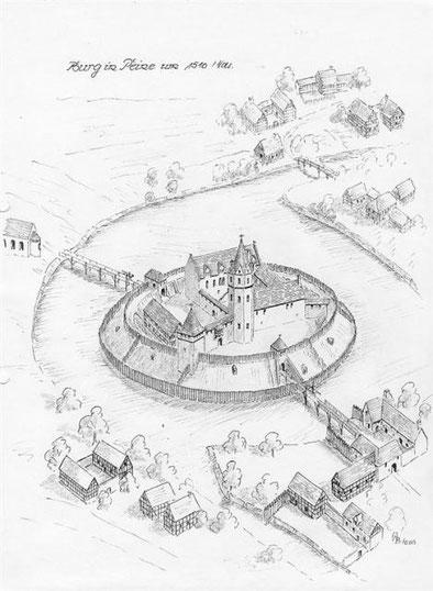 Das älteste Bild von der Burg Peine was wir fanden stammt von 1510
