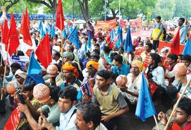"""Aktivister fra valgforbundet """"Den tredje Front""""  i New Dehli"""