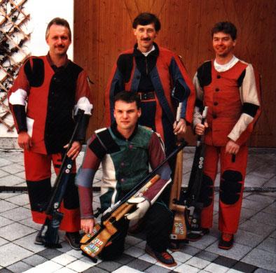 von links:  Wilfried Dosch, Hermann Prummer, Michael Pittrich und vorne Claus Mair.