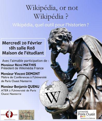 wikipédia or not wikipédia ? Wikipédia, quel outil pour l'historien.