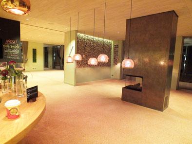 Opus Signinum,Terrazzoboden Golfclub,Terrazzo Bostalsee,Terrazzoboden aus Ziegelsplitt