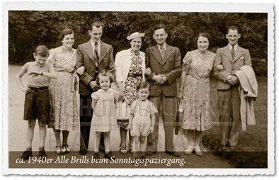 Schuhmacherei Baumbach - 1940er - Wiesbadener Schuhmacher beim Sonntagsspaziergang