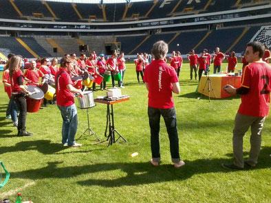 Teambuilding im Fußball Stadion