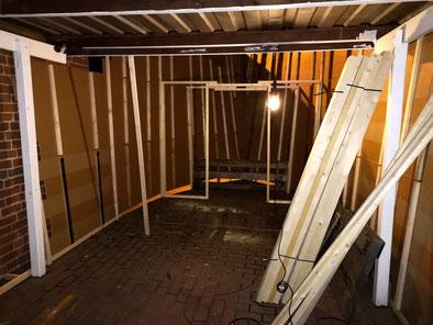 Baublog 4 - Aufbau von Abschnitt 1 - Halloweenhaus Lüneburg
