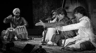 Prem Kumar Mallick y Prashant Mallick, cantantes de Dhrupad