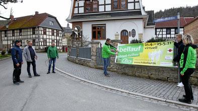 """Banner-Anprobe"" in Keilhau"