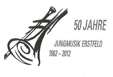 Offizielles Logo 50 Jahre Jungmusik Erstfeld (oben)