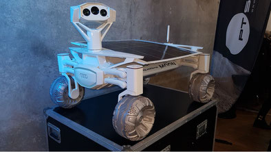 If all goes well, two Audi lunar rovers (one seen here) will fly to the Moon either at the end of this year or in early 2020