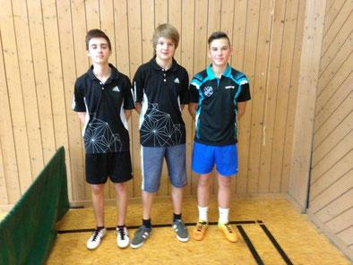 Kreispokalsieger 2014: Marco Sterk, Tom Schulte und Niklas Oberth
