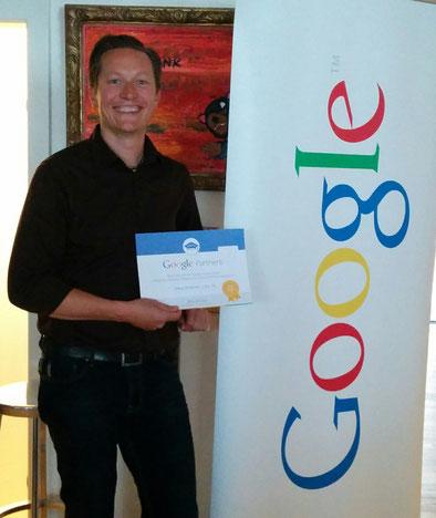 Markus Hochsteiner mit dem Google Analytics Zertifikat