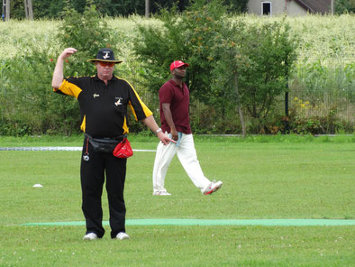 Umpiring at the Twenty20 International Tournament in Warsaw, Poland (11-14.8.2016)