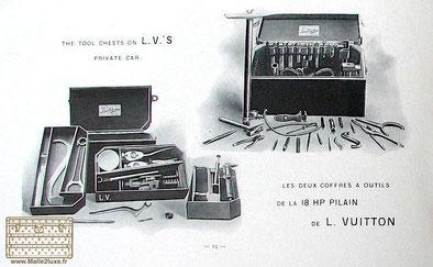 Louis Vuitton catalog 1900 mahogany automotive toolbox