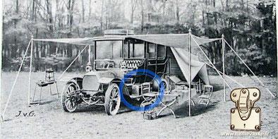 Catalogue Louis Vuitton boite à outils 1900 acajou automobile trunk