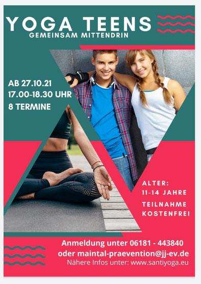 Teens Yoga in Maintal kostenfrei Bürger Stiftung Hanau