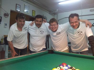 von rechts: Dragan, Fikri, Istvan, Stefan