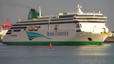 Le M/V Ulysses, navire amiral de l'armement irlandais Irish Ferries.