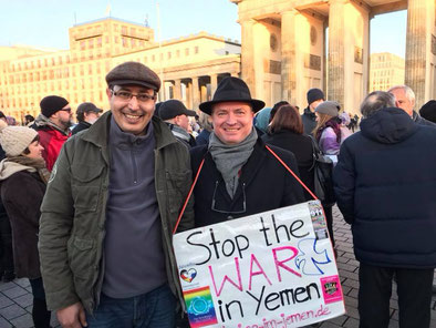 18.12.2017 Berlin - Demonstration YEMEN IS DYING - WHO CARES? Deutsch-Jemenitische Gesellschaft e. V.