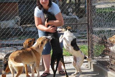 Sina (rechts) mit Lina (links daneben), Mike (vorne) und Leni 2 (links)