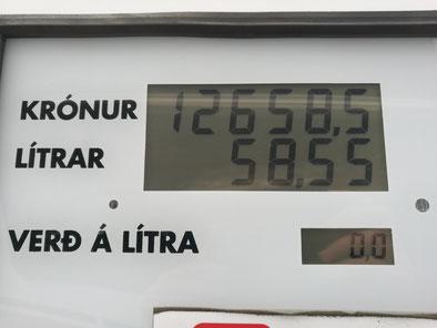 Une des stations les moins chères : ça fait quand même 1,60 € le litre de diesel mais c'est beaucoup moins cher que le litre de vin !